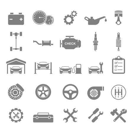 Auto repair Icons Stock Illustratie