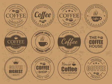 vintage sign: Set of vintage Retro Coffee Labels,vector