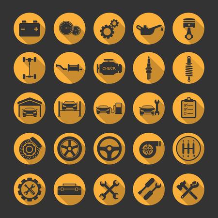 Auto-Reparatur-Icons Vektorgrafik