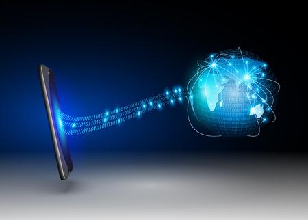 smartdigital: Smart Phones and Globe Connections Design Illustration