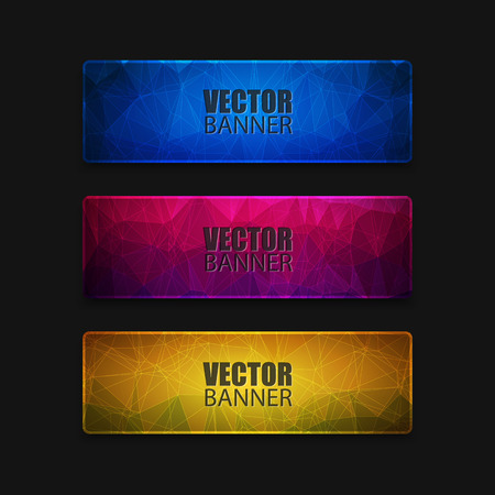 abstract illustration: Abstract banner with polygon background, banner vector