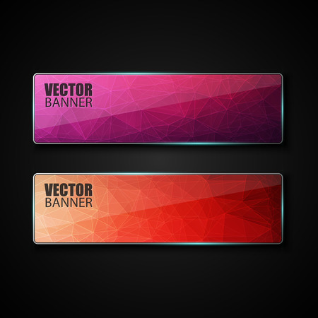 blue light background: Abstract banner with polygon background, banner vector