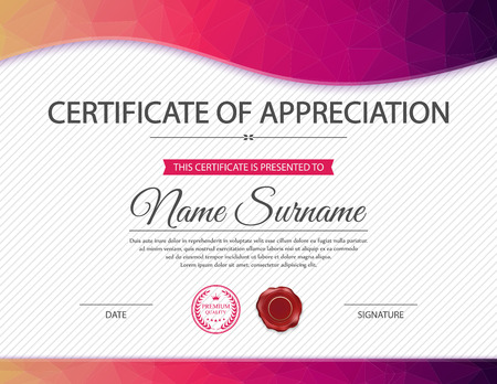 template: Vector certificate template. Illustration