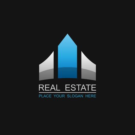 arquitectura: Inmobiliaria vector logo diseño template.vector