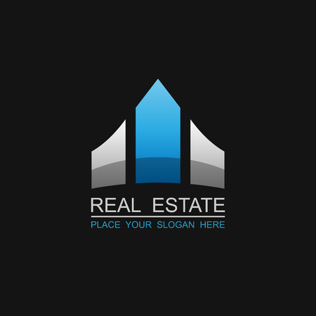 housing estate: Real Estate vector logo design template.vector