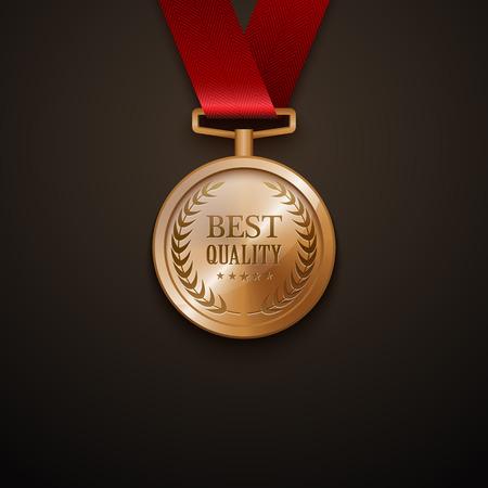 Medal best quality.vector Illustration