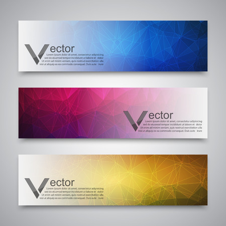 polygons: Abstract banner with polygon background, banner vector