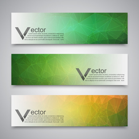 Abstract banner with polygon background, banner vector