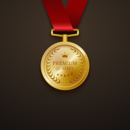 medal: Medal best quality.vector Illustration