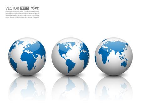 bola del mundo: Vector mundo icono.