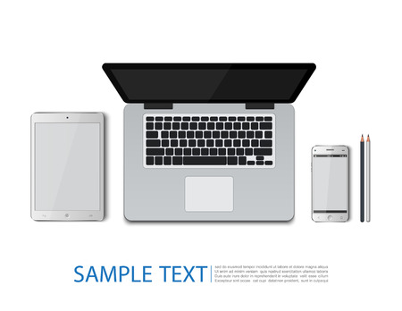 laptop vector: Laptop,TabletSmart, phone,Pencil,vector