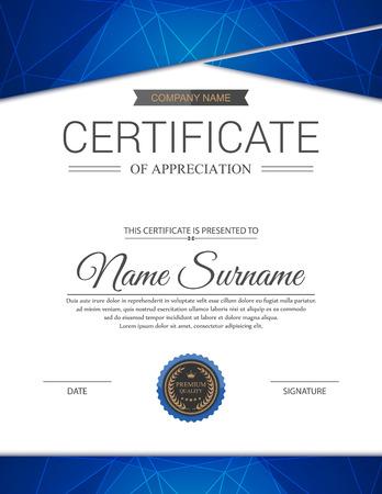 Plantilla de certificado vector. Foto de archivo - 43884512