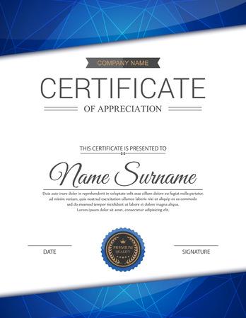 Plantilla de certificado vector. Foto de archivo - 44240286