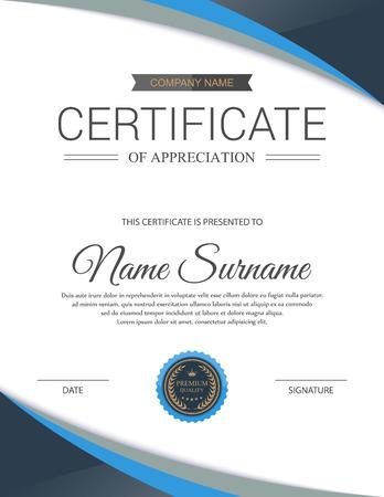 Plantilla de certificado vector. Foto de archivo - 44240289