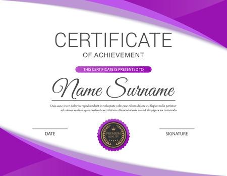 Plantilla de certificado vector. Foto de archivo - 44240288