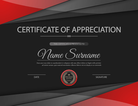 certificate design: Vector certificate template. Illustration