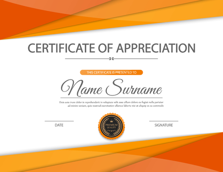 Vector certificate template. Illusztráció
