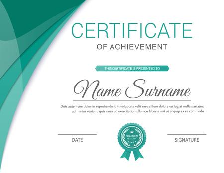 Vector certificaatsjabloon. Stockfoto - 44700768