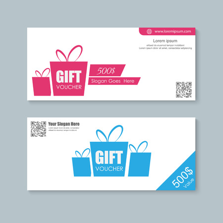 Voucher, Gift certificate, Coupon template. Stock Vector - 44700782