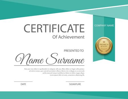 Vecteur modèle de certificat. Banque d'images - 44700926
