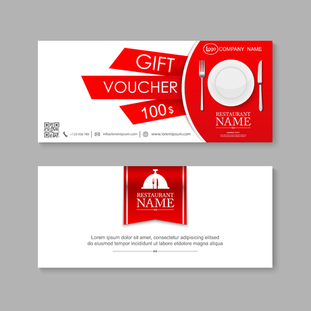 Voucher, Gift certificate, Coupon template. 일러스트