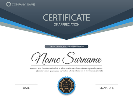 awards: Vector certificate template. Illustration