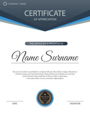 Plantilla de certificado vector. Foto de archivo - 45074674