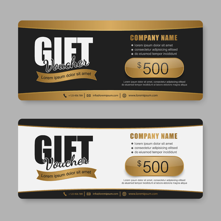 Voucher, Gift certificate, Coupon template. Vectores