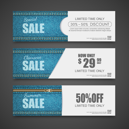 Denim texture,Jeans banner,Sale banners design,vector Illustration