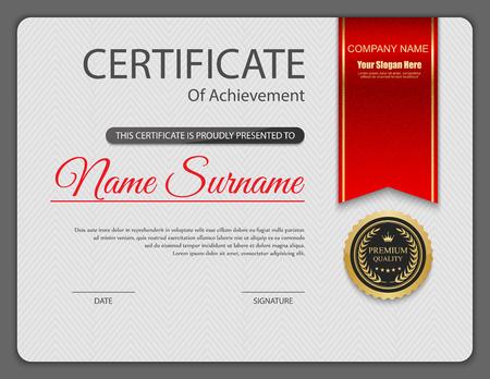 certificate: Vector certificate template. Illustration