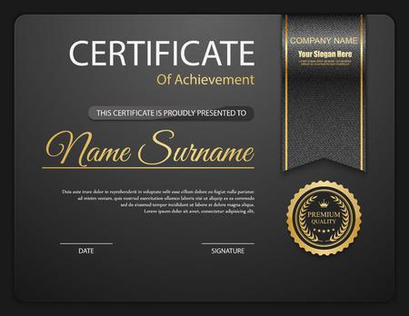 Plantilla de certificado vector. Ilustración de vector