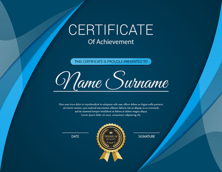 premios: Plantilla de certificado vector.