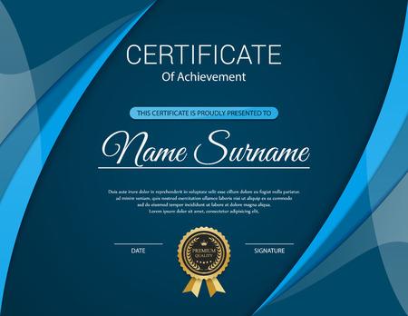 sjabloon: Vector certificaat sjabloon.