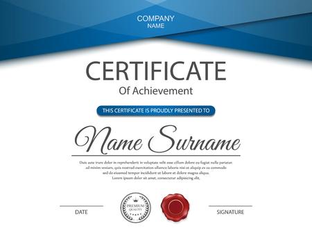 Plantilla de certificado vector. Foto de archivo - 45305415
