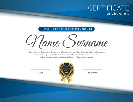 gold swirls: Vector certificate template. Illustration