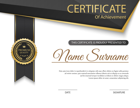 documents: Vector certificate template. Illustration
