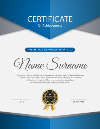 Plantilla de certificado vector. Foto de archivo - 45989126