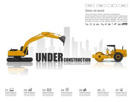 front loader: Bajo el concepto de construcción, vector