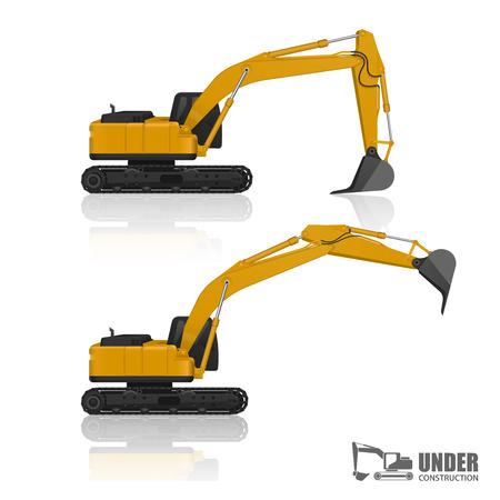 heavy equipment: vector excavator