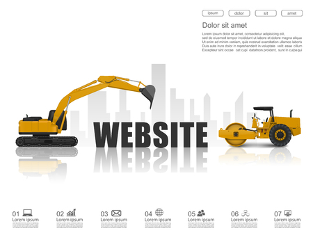 website under construction: Concept of website under construction ,vector