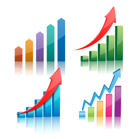 graphs: Vector illustration of 3d graph