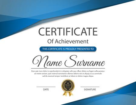 certificate: Plantilla de certificado, vector