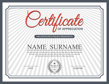 vintage frame: Certificate template, vector Illustration