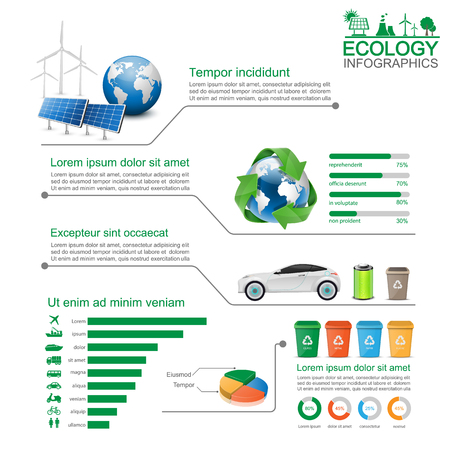 data recovery: Green Ecology Infographic,vector
