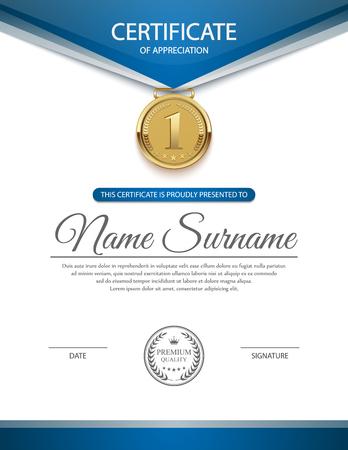 Certificate template, vector Illustration