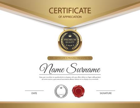 awards: Plantilla de certificado vector.