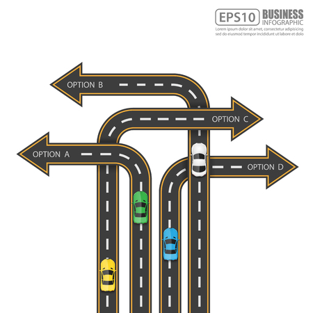 race: Road  Street Infographic Design Template,Vector Illustration