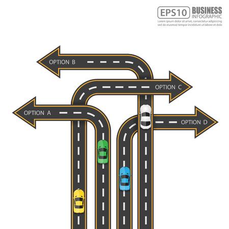 Road  Street Infographic Design Template,Vector Illustration