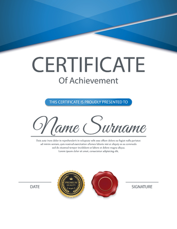 diploma: Vector certificate template. Illustration