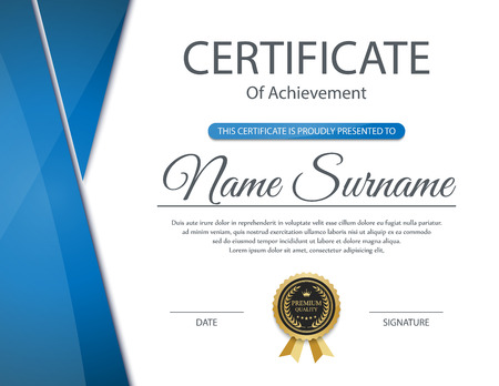 diploma border: Vector certificate template. Illustration